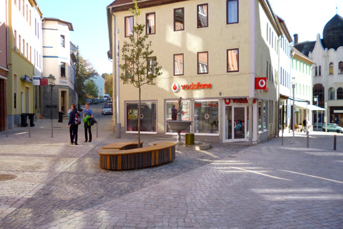 Lower Bahnhofstrasse and Townhouse Place Apolda