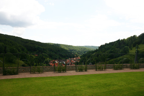 South Terrace of Stolberg Castle, Harz Mountains